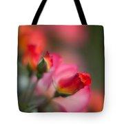 Fiery Roses Tote Bag by Mike Reid