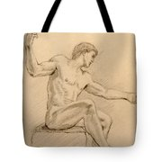 Figure On A Rock Tote Bag by Sarah Parks