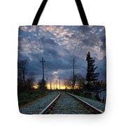 Fire On The Horizon Tote Bag by Eti Reid