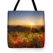 Fire on the Mountain Tote Bag by Debra and Dave Vanderlaan