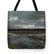 Firehole Lake Drive Sunrise - Yellowstone Np Tote Bag by Sandra Bronstein