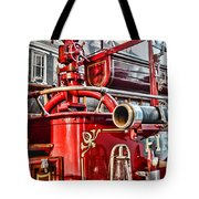 Fireman - Antique Brass Fire Hose Tote Bag by Paul Ward