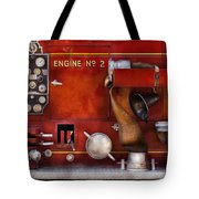 Fireman - Old Fashioned Controls Tote Bag by Mike Savad