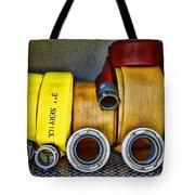 Fireman - The Fire Hose Tote Bag by Paul Ward