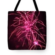 Rockets Red Glare Fireworks Tote Bag by Howard Tenke