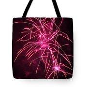 Rockets Red Glare Fireworks Tote Bag by Howard Tenke