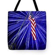 Fireworks At Iwo Jima Memorial Tote Bag by Francesa Miller