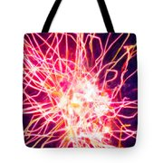 Fireworks At Night 6 Tote Bag by Lanjee Chee