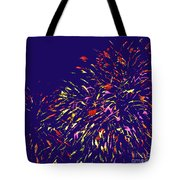 Fireworks Tote Bag by Elizabeth Blair-Nussbaum
