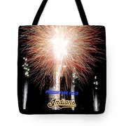 Fireworks Finale Tote Bag by Frozen in Time Fine Art Photography