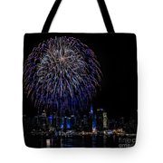Fireworks In New York City Tote Bag by Susan Candelario