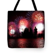 Fireworks Tote Bag by Nishanth Gopinathan