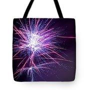 Fireworks - Purple Haze Tote Bag by Scott Lyons