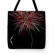 Fireworks Rockets Red Glare Tote Bag by Christina Rollo