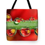Firey Drops Tote Bag by Gary Yost