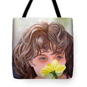 First Daffodil Tote Bag by Carol Allen Anfinsen
