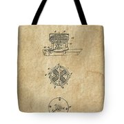 First Electric Motor 3 Patent Art 1837 Tote Bag by Daniel Hagerman