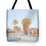 First Frost Tote Bag by Alfred Sisley