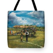 First Landing At Shepherd's Field Tote Bag by Randy Green