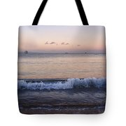 First Light On Ma'alaea Bay Tote Bag by Trever Miller