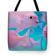 Fish Frenzy Tote Bag by Carey Chen