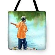 Fish Story Tote Bag by Kris Parins
