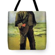 Fisherman On The Beach Tote Bag by Vincent Van Gogh
