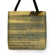Fisherman's Prayer Tote Bag by Robert Frederick