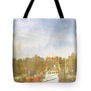 Fishing Boats Newport Oregon Tote Bag by Carol Leigh