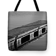 Fishing Dock Tote Bag by Frozen in Time Fine Art Photography