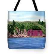 Fishing Gear Stage Tote Bag by Barbara Griffin
