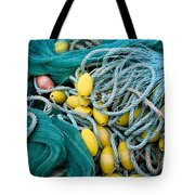Fishing Nets Tote Bag by Frank Tschakert
