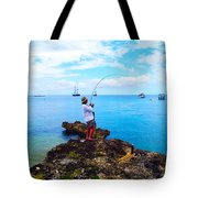 Fishing Paradise Tote Bag by Carey Chen