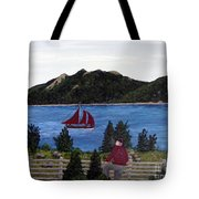 Fishing Schooner Tote Bag by Barbara Griffin