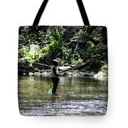 Fishing the Wissahickon Tote Bag by Bill Cannon