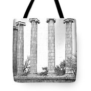 Five Columns Sketchy Tote Bag by Debbie Portwood