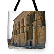 Five Thousand Year Old Temple Of Hathor In Dendera- Egypt Tote Bag by Ruth Hager