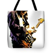 Flash Point     Stevie Ray Vaughan Tote Bag by Iconic Images Art Gallery David Pucciarelli