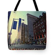Flat Iron Building Poster Tote Bag by Nishanth Gopinathan