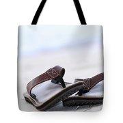 Flip-flops On Beach Tote Bag by Elena Elisseeva