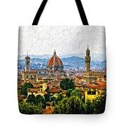 Florence Impasto Tote Bag by Steve Harrington