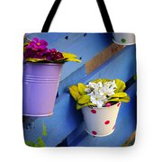 Flower Baskets Tote Bag by Carlos Caetano