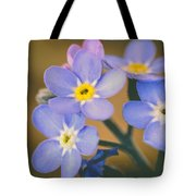 Forget Me Nots Tote Bag by Marco Oliveira