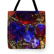 Flower Of Creation  Tote Bag by Joseph Mosley