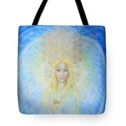 Flower Of Life Angel Tote Bag by Lila Violet