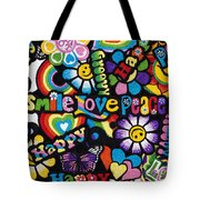 Flower Power Tote Bag by Tim Gainey