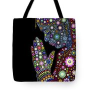 Flower Prayer Girl Tote Bag by Tim Gainey