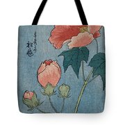 Flowering Poppies Tanzaku Tote Bag by Ando Hiroshige
