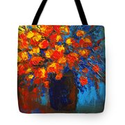 Flowers Are Always Welcome IIi Tote Bag by Patricia Awapara