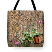 Flowers On Wall - Taromina Tote Bag by David Smith